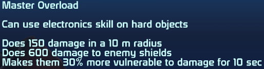 ME1 Master Overload Ability