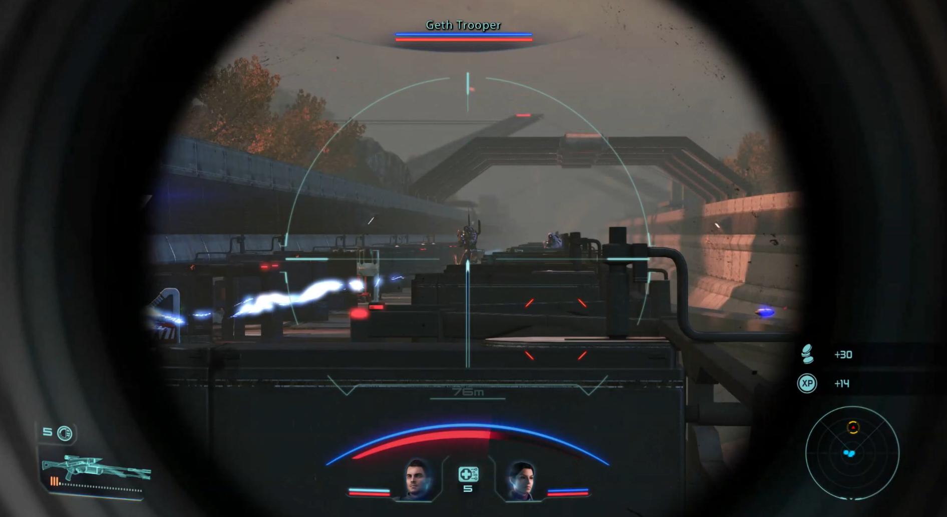 ME1 Sniper Rifle Shot