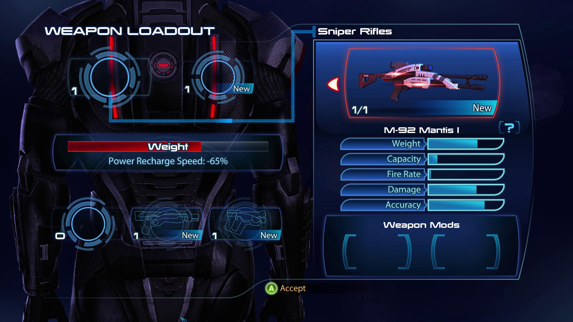 ME3 Weapon Loadout