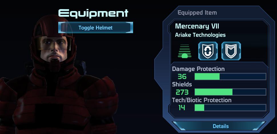 ME1 Mercenary VII Armor