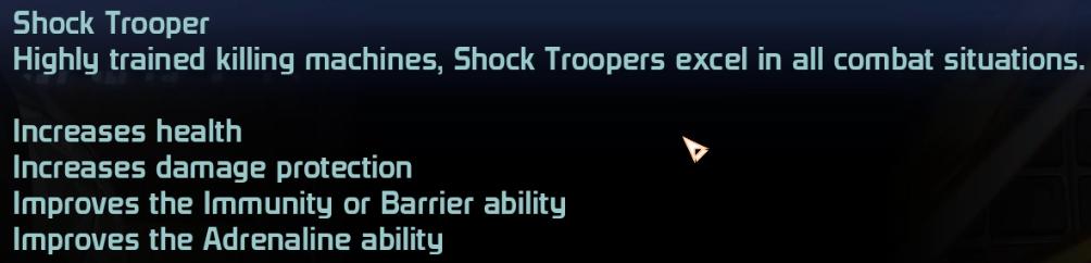 Shock Trooper Specialization