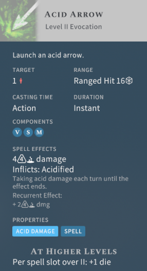 Solasta Acid Arrow