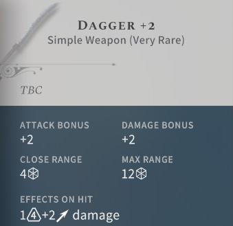 Solasta Dagger +2