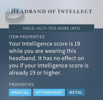 Solasta Headband of Intellect