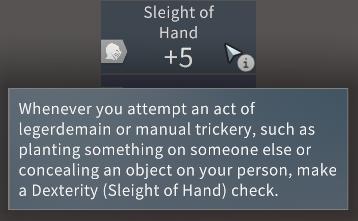 Solasta Sleight of Hand at Level 1