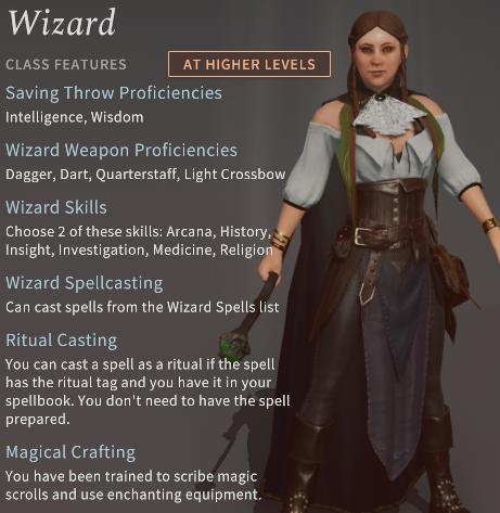 Solasta Wizard Class
