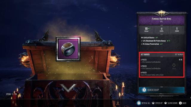 DA Armor (Set Bonuses)