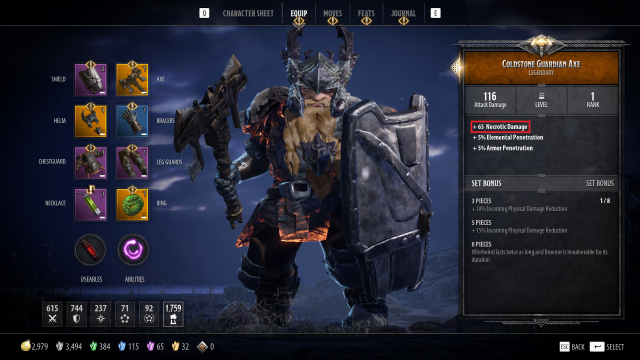 Bruenor Build Guide: DnD Dark Alliance Coldstone Guardian Axe
