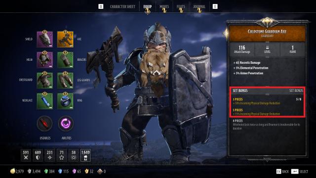 Bruenor Build Guide: DnD Dark Alliance Coldstone Guardian Set