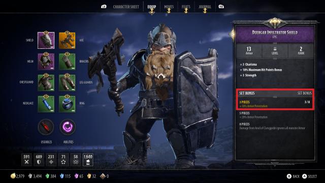 Bruenor Build Guide: DnD Dark Alliance Duergar Infiltrator Set