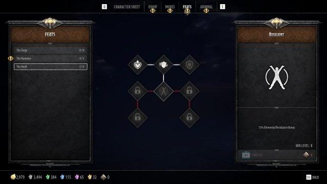 Bruenor Build Guide: DnD Dark Alliance The Anvil Feat Tree