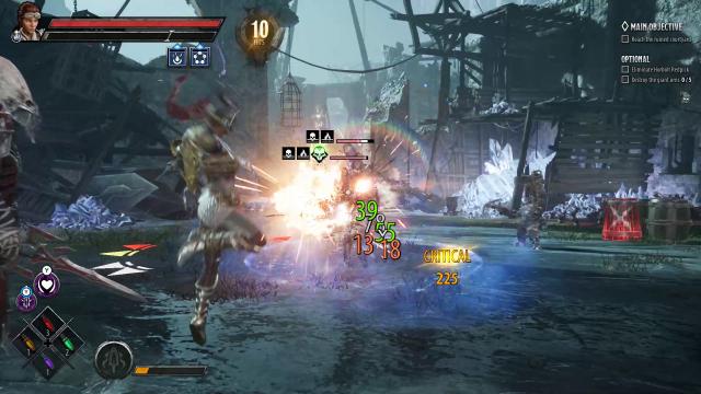 DA Catti in Combat with Elemental Damage