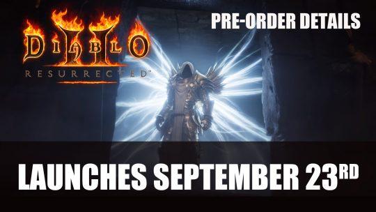 Diablo 2 Resurrected Launches September 23rd 2021; Pre-Order Details