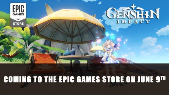 Genshin Impact Coming to the Epic Games Store on June 9th