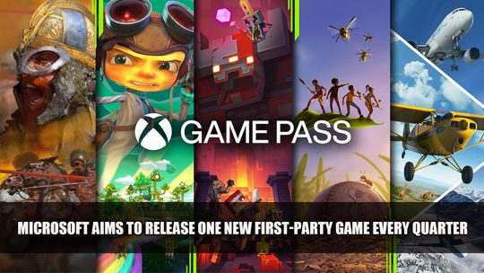 Microsoft Aims to Release One New First-Party Game to Game Pass Every Quarter