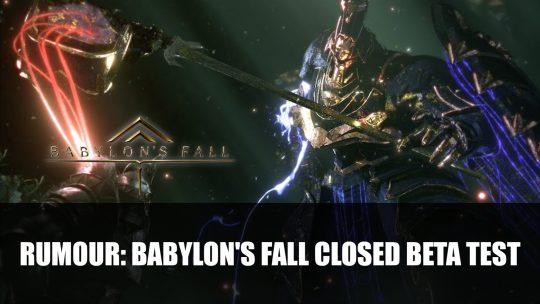 Rumour: Babylon's Fall Closed Beta Test