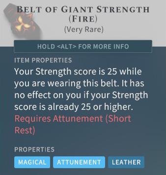 Solasta Belt of Giant Strength (Fire)