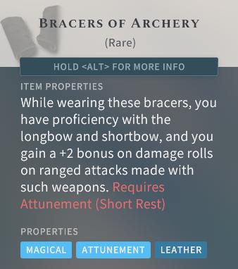 Solasta Bracers of Archery