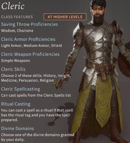 Solasta Cleric Class