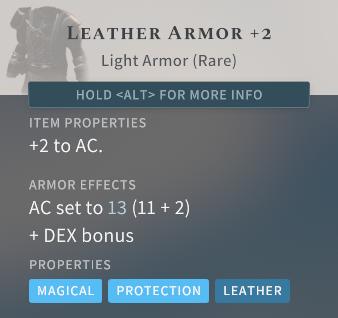 Solasta Leather Armor +2