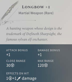 Solasta Longbow +1
