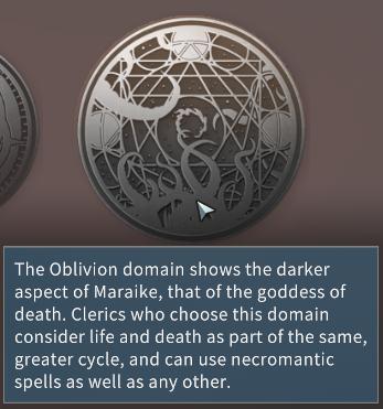 Solasta Oblivion Divine Domain