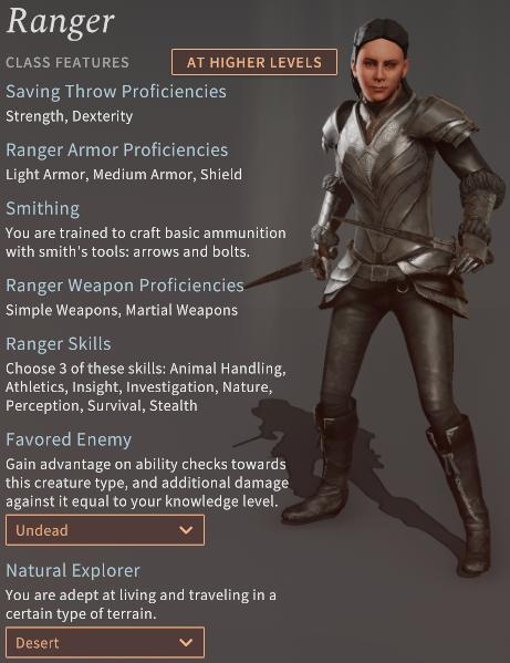 Solasta Ranger Class