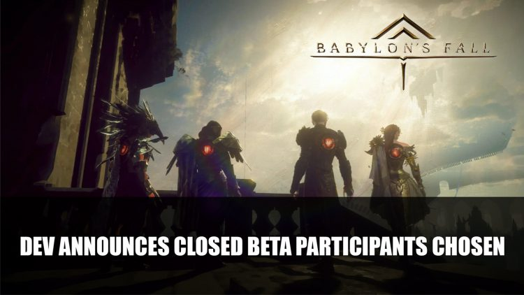 Babylon's Fall Developer Announces Closed Beta Participants Chosen