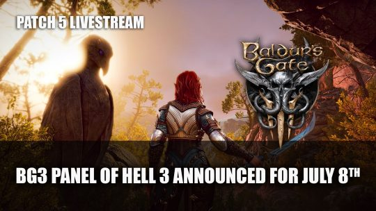 Baldur's Gate 3 Devs Announce Next Panel from Hell Covering Patch 5