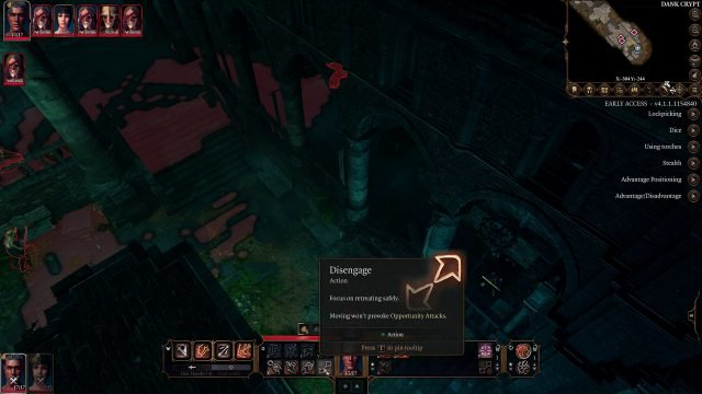 Basic Actions Baldur's Gate 3 Early Access Patch 5
