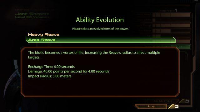 Mass Effect 2 Area Reave (Vanguard)
