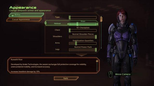 Mass Effect 2 Assassin Infiltrator Armor