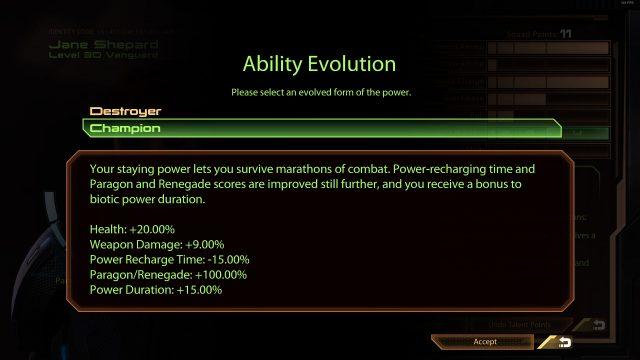 Mass Effect 2 Champion Specialization (Vanguard)