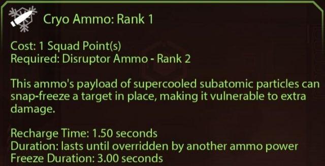 Mass Effect 2 Cryo Ammo Rank 1
