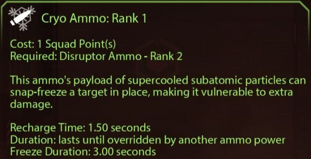 Mass Effect 2 Cryo Ammo Rank 1 (Vanguard)