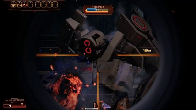 Mass Effect 2 Sniper Rifle in Combat (Infiltrator)