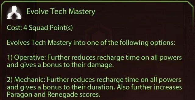 Mass Effect 2 Tech Mastery Evolutions