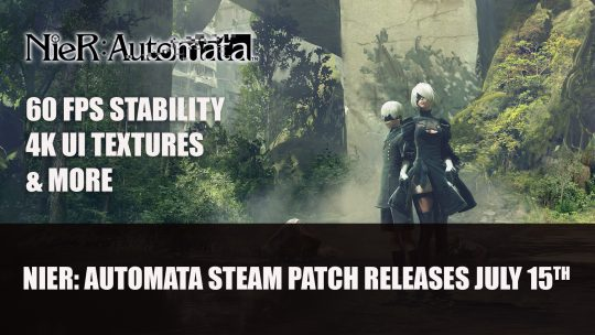 Nier Automata Finally Receives Improvements on Steam July 15th