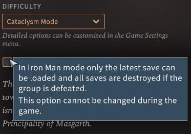 Solasta Iron Man Mode
