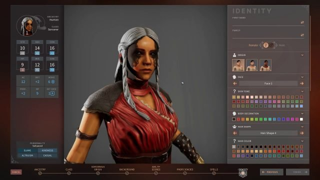 Solasta Sorcerer Facial Marking Customization