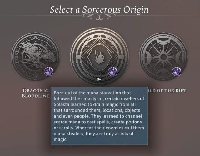 Solasta Sorcerer Mana Painter Sorcerous Origin