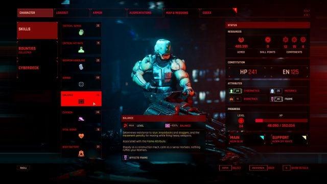Terminator Tank Character Creation (Skills and Attributes) Balance
