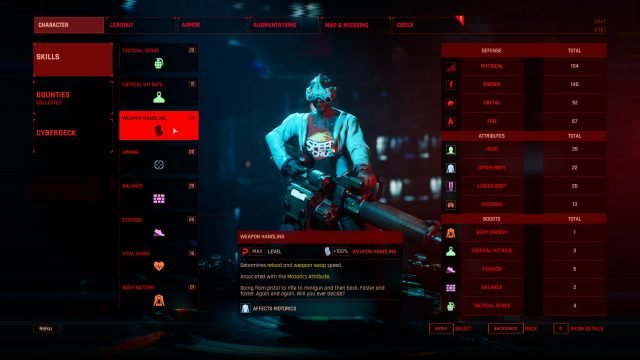 Terminator Tank Character Creation (Skills and Attributes) Weapon Handling