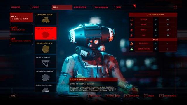 The Ascent Build Guide Armor Selection (F-50 Sledgehead Helmet Headgear)