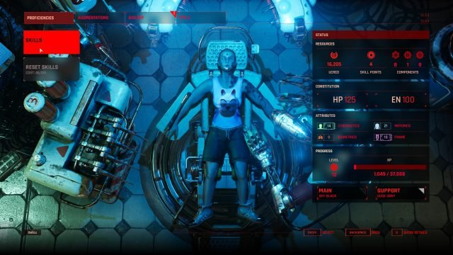 The Ascent Utilize the Classless System (Skills, Attributes, Augmentations)