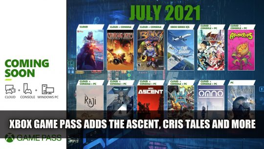Xbox Game Pass Adds The Ascent, Cris Tales and More This July