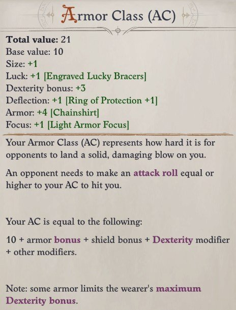 Armor Class Pathfinder Wrath of the Righteous