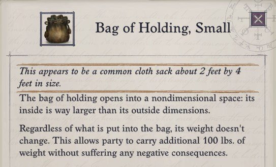 Bag of Holding Pathfinder Wrath of the Righteous