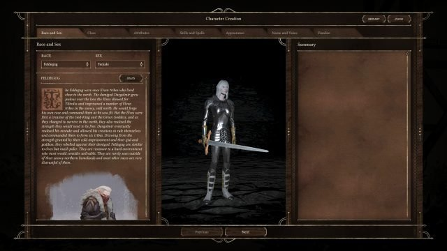 Black Geyser Combat and Gameplay Races