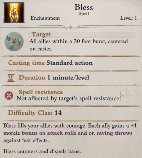 Bless Pathfinder Wrath of the Righteous